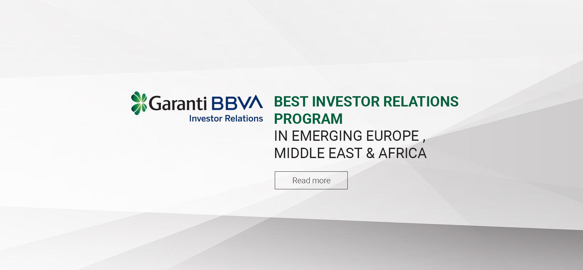 Morgan Stanley Investor Relations >> Garanti Bbva Ir